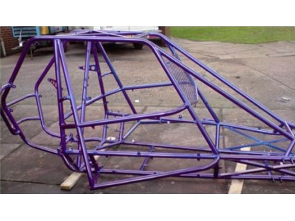 Auto Grass Chassis Powder Coated Blue