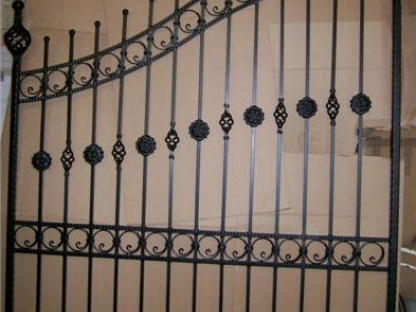 Gate Powder Coated Over Galvanise