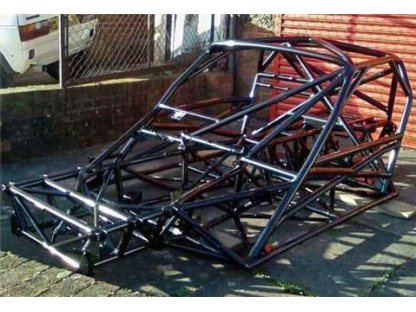 Racing Chassis Finished In Black Powder